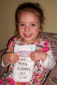 Diaper Goodbye, cute idea to document potty training. :)