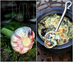 Escargots et champignons de saison à la crème d'ail frais