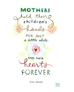 mothers irish proverb 5x7 print. $10.00, via Etsy.