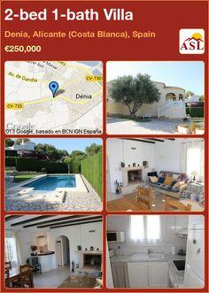 2-bed 1-bath Villa in Denia, Alicante (Costa Blanca), Spain ►€250,000 #PropertyForSaleInSpain