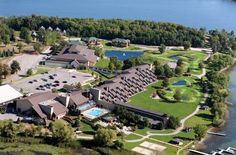 Believe it or not, this awesome #resort is located in Alexandria, MN... it even has a 38,000 sq ft waterpark along with two pools, a hot tub, and tons of rentals for lake activities
