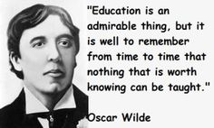 Oscar Wilde Google Doodle Education Quote