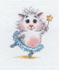 Cross stitch kit by 'Wonderful needle' (hammy cross stitch kits-how could I resist them )