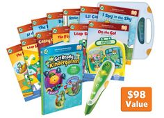 LeapFrog Tag™/LeapReader Get Ready for Kindergarten Super Bundle- Prep for success with key kindergarten skills with the award-winning LeapReader system and activity books.