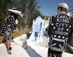 The City of London Pearly King and Queen enjoying a round of golf on Selfridges Roof, 2012, style.selfridges.com
