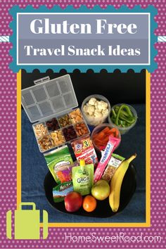 It's Challenging to Find Healthy Snacks When You Are on the Road -- And Being Gluten Free Makes that Task Even More Difficult!  Here is a List of Our Favorite Gluten Free & Travel Friendly Healthy Snacks!Healthy Snacks for the Road Gluten Free - http://homesweetroad.com/healthy-snacks-gluten-free/