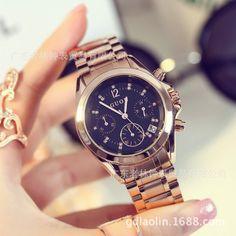 3e35800cef6c GUOU 2017 New Relogio feminino Women Luxury Brand Fashion watch stainless  steel Multifunction Ladies quartz Wrist Watch orologi