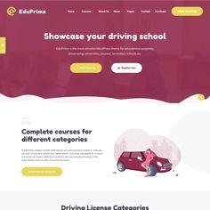 EduPrime - ModelTheme Driving School, Secondary School, Page Layout, Good Skin, Wordpress Theme, Presentation, Education, Upper Elementary, Middle School