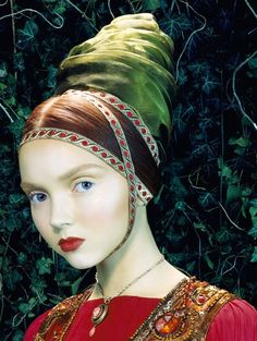 noirfacade: Like a painting | Lily Cole by Miles Aldridge for Vogue Italia February 2005