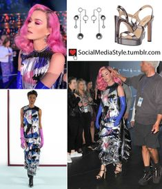 03c1a60b01d3 Buy Katy Perry's fringed dress and silver earrings and sandals from  American Idol here!
