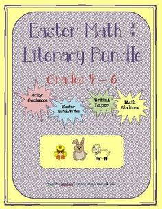 Easter Math & Literacy Bundle from Mrs. Naufal's Nook on TeachersNotebook.com -  - This Literacy and Math Easter bundle contains four units found in my store: Easter Silly Sentences for Fluent Readers, Easter Math Stations, Easter Quick-Writes and Easter Writing Paper.