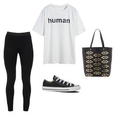 """""""the comfortable look"""" by daniellaaxoxo ❤ liked on Polyvore featuring Deux Lux, Peace of Cloth and Converse"""