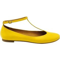 See by Chloe T-Bar Ballerina Pumps, Yellow