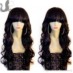 8fb1a7869a4 Brazilian Body Wave Wig With Bangs Full Lace Unprocessed Human Hair Wig  Lace Front Wigs With Full Bangs Glueless Freeship