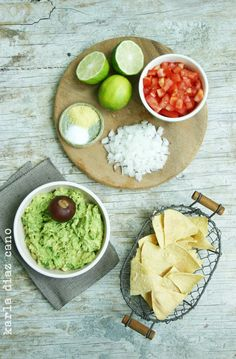 homemade guac...I hear leaving the pit in with the guac keeps it fresher longer.