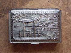VERKOOP Vintage 1940 de Japanse zilveren metalen sigaret