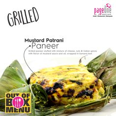 We love to pamper you with surprises. #Taste the #musturdpatraniPaneer Pageone today! #restaurant #outofboxmenu #vastrapur