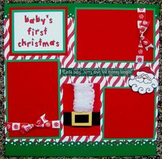 BABY'S FIRST CHRISTMAS ONE 12X12 Premade Scrapbook Page in Crafts, Scrapbooking & Paper Crafts, Scrapbooking Pages (Pre-made) | eBay