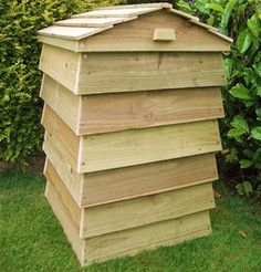 Beehive Wooden Compost Bin 300L Capacity - Treated