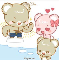 Chibi Cat, Cute Chibi, Cute Anime Cat, Latte, Cute Couple Comics, Cute Bear Drawings, Sugar Bears, Cute Love Cartoons, Love Bear