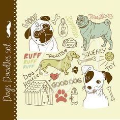 24 Dogs Clip Art Elements - Luvly Marketplace | Premium Design Resources #animal #clipart #graphics #dog