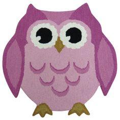 Hand-tufted Hootie Patootie Pink Wool Owl Rug - x (Owl Shape Rug Pink Purple Area Rugs, Navy Blue Area Rug, Beige Area Rugs, Owl Rug, Owl Kids, Kids Area Rugs, Pink Kids, Hand Tufted Rugs, Handmade Home Decor