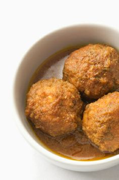 Vegetable Kofta is like a Vegan Meatball ~ no meat, no wheat, no eggs ~ just pure delight in a creamy curry sauce. LOTS of ingredients and a little bit of time. Vegan Indian Recipes, Veg Recipes, Spicy Recipes, Whole Food Recipes, Vegetarian Recipes, Cooking Recipes, Asian Recipes, Recipies, Whole Foods