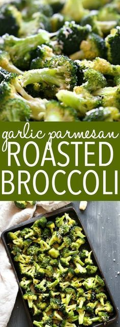 This Garlic Parmesan Roasted Broccoli is a quick and easy side dish that's healthy and delicious, and made with only 4 simple ingredients! It's a family favourite recipe that's the perfect holiday side dish, but it's delicious any time of the year!
