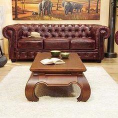 4 fauteuils chesterfield de bureau siege visiteur facon for Canape chesterfield cuir vieilli