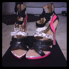 Gwen Stefani Lamb Jen Sandal Like New!! Only worn for about 30 minutes...too high They are absolutely gorgeous and perfect for Spring & Summer  L.A.M.B. Shoes