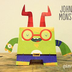 Let your kids create their own mini monster with this Papercraft Monster template from Playtend.