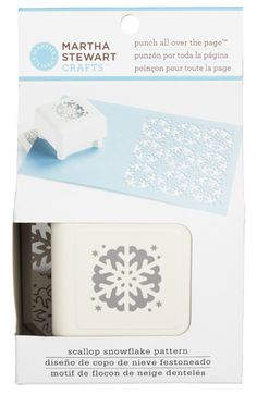snowflake template martha stewart - martha stewart crafts punch all over the page craft