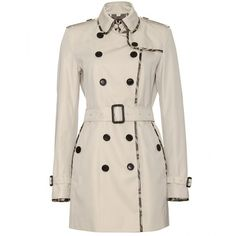 Burberry London Queensland Trench Coat (15.450 ARS) ❤ liked on Polyvore featuring outerwear, coats, jackets, coats & jackets, burberry, pink coat, burberry coat, double breasted coat and leather trenchcoat