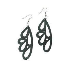 Decaying Birch earrings, made from recycled rubber!