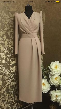 Hijab Evening Dress, Hijab Dress Party, Evening Dresses, Elegant Dresses For Women, Dressy Dresses, Simple Dresses, Fabulous Dresses, Mode Abaya, Mode Hijab