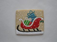 Sleigh with Presents Cookie