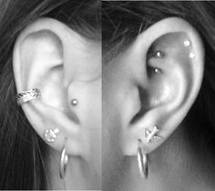 I wanna do the double cartlidge piercing, so cute just need to pierce the bottom one now :)