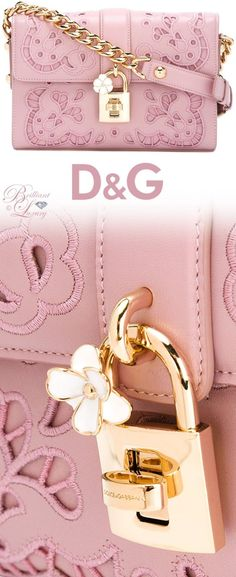 Women's Handbags For Every Occasion : Brilliant Luxury by Emmy DE ♦️ Dolce & Gabbana Broderie Cutout Shoulder Bag Luxury Bags, Luxury Handbags, Fashion Handbags, Purses And Handbags, Fashion Bags, Pink Purses, Fall Fashion, Dolce & Gabbana, Dolce And Gabbana Bags