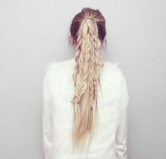 Straight Ponytail Braids Hair Tutorial | Kassinka | Bloglovin'
