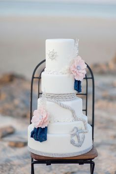 Nautical Wedding Cake | Maria Sundin Photography | Bridal Musings Wedding Blog