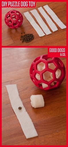 ♥ Dog Care Tips ♥ Make your dog a puzzle toy he can work on over and over again. This DIY dog toy only takes two materials, and it's easy to make!