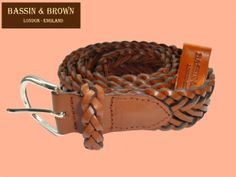 Bassin & Brown - Plaited Leather Belt -  Tan - Made In England  http://www.bassinandbrown.com/