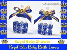 royal+prince+baby+shower+decorations   Royal Blue Baby Bottles, Little Prince Baby Shower Favors, Candy ...