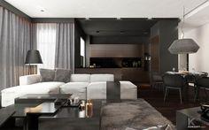 modern elegant natural colors living room