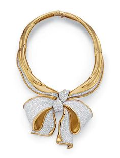 A GOLD AND DIAMOND 'HANKERCHIEF' NECKLACE, BY ROBIN GARIN ROTSTEIN - Christie's