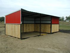 Portable Horse Shelter with storage.