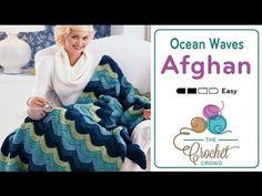 How to Crochet An Afghan: Ocean Waves - YouTube