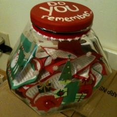 Memory jar .... touching idea for those affected by Alzheimer's.