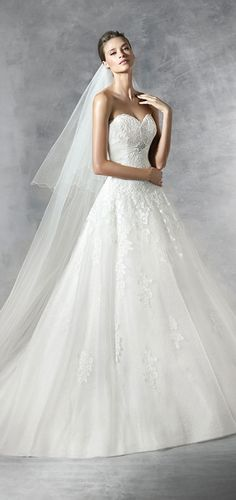 Pronovias 2016 Wedding Dress  - Custom Made Bridal Gown & Design Your Own Dress! Click now www.yalandesign.com