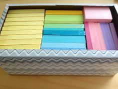 Post-Its stored in an empty tissue box. Nothing fancy here but thought someone might appreciate this organization!